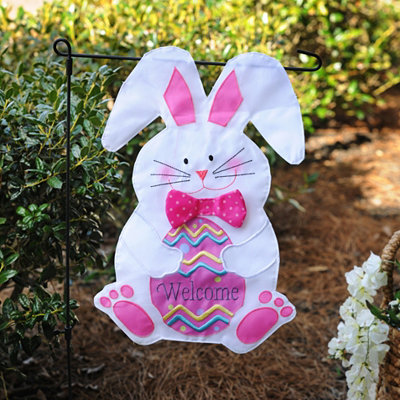 Easter Bunny Welcome Flag Set