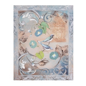 Vintage Bird Flourish I Canvas Art Print