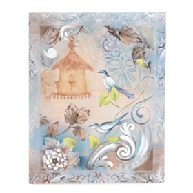 Vintage Bird Flourish II Canvas Art Print