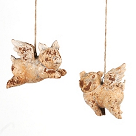 Flying Pig Outdoor Statues