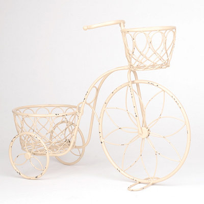 Distressed Bicycle Planter