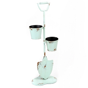 Mint Shovel Plant Stand