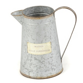 Galvinized Metal Water Pitcher