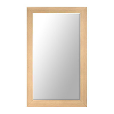 Blonde Oak Framed Mirror