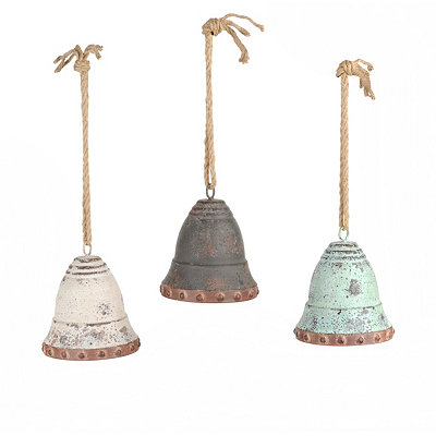 Distressed Metal Bell Wind Chimes