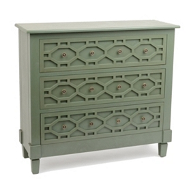 Green Hexagon 3-Drawer Chest
