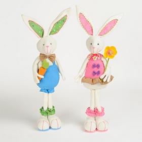 Plush Easter Bunny Statue