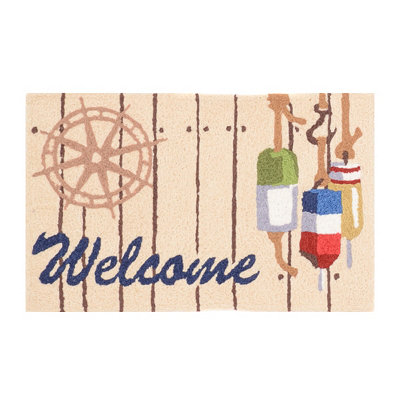 Seaside Welcome Accent Rug