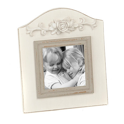Distressed White Arch Frame, 4x4