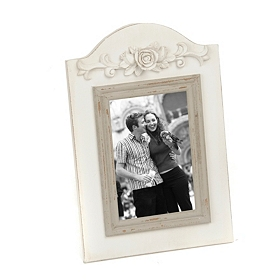 Distressed White Arch Frame, 4x6