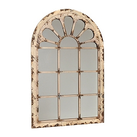 Adelle Distressed Cream Arch Mirror