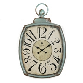 Beatrice Turquoise Clock