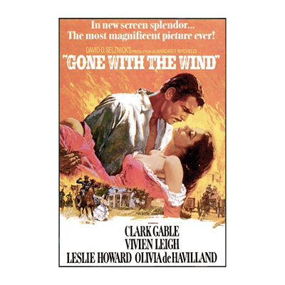 Gone with the Wind Poster Wall Plaque