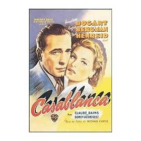 Casablanca Poster Wall Plaque