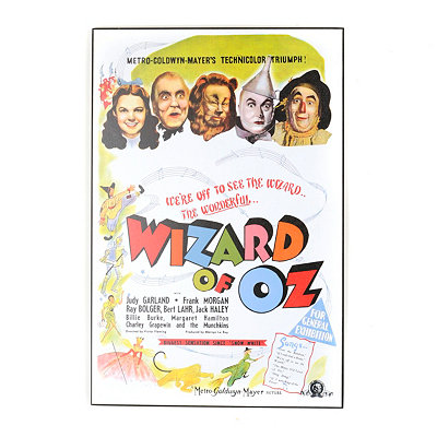 Wizard of Oz Poster Wall Plaque