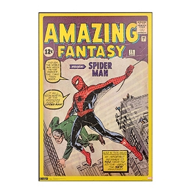 Spider Man Comic Book Wall Plaque