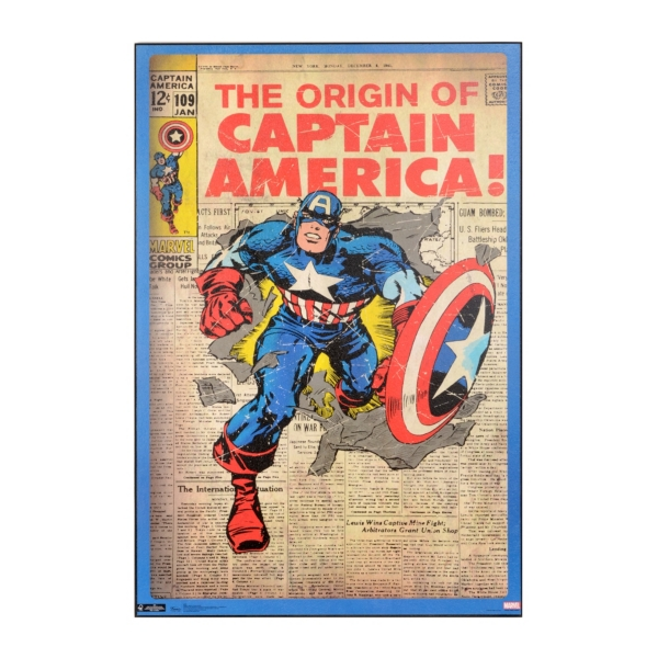Captain America Wall Art captain america comic book wall plaque | kirklands
