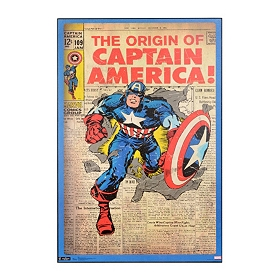 Captain America Comic Book Wall Plaque