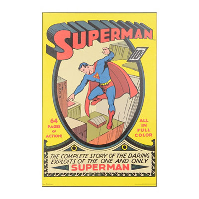 Superman Comic Book Wall Plaque