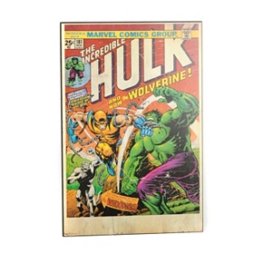 Incredible Hulk Comic Book Wall Plaque