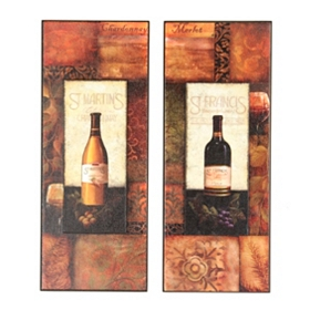 St. Martin & St. Francis Wine Wall Plaques