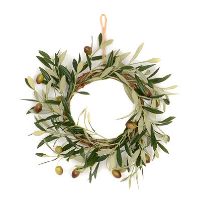 Olive Wreath, 10 in.