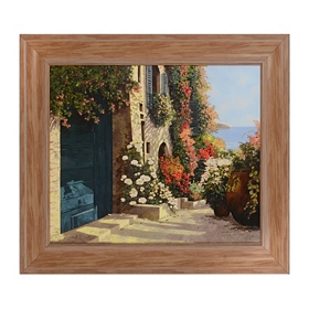 Flower Terrace Framed Art Print