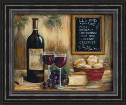 Les Vins Framed Art Print