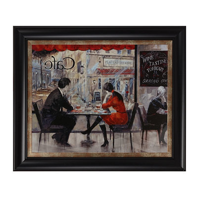 Couple In Café Framed Art Print