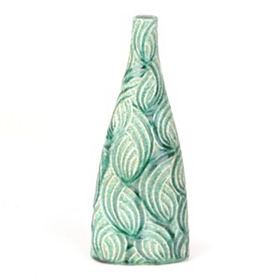 Seafoam Flow Triangle Vase