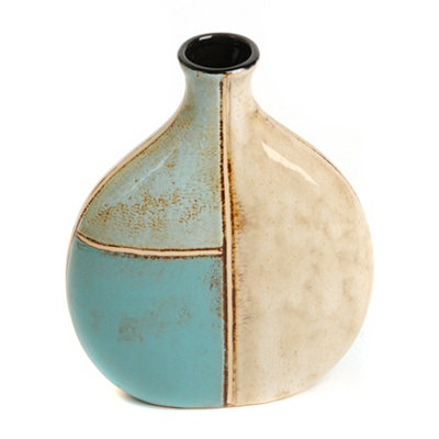Coastal Blues Rounded Vase