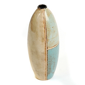 Coastal Blues Bottle Vase