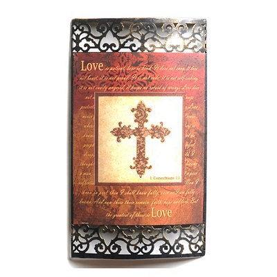 Spice Cross Metal Wall Plaque