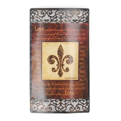 Spice Fleur-de-Lis Metal Wall Plaque