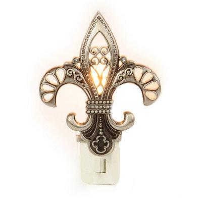 Silver Fleur-de-lis Night Light