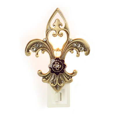Bronze Fleur-de-lis Night Light