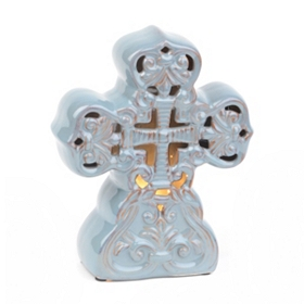 Blue Cross Tabletop Night Light