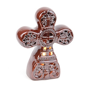 Brown Cross Tabletop Night Light