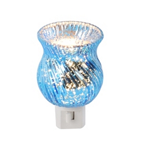 Blue Mercury Glass Night Light