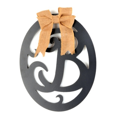 Wooden Monogram B Wall Plaque