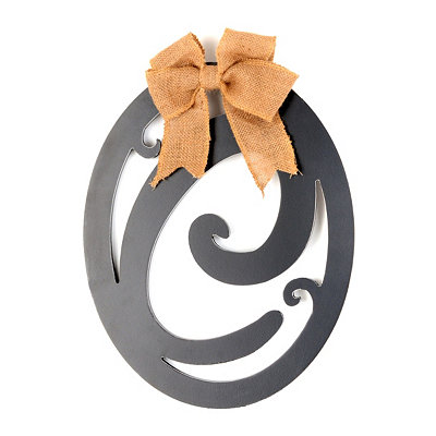 Wooden Monogram C Wall Plaque
