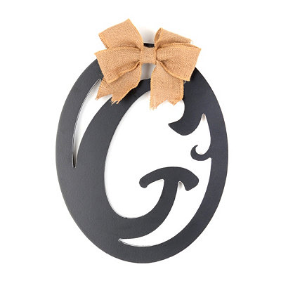 Wooden Monogram G Wall Plaque