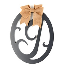 Wooden Monogram J Wall Plaque