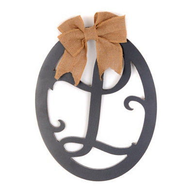 Wooden Monogram L Wall Plaque