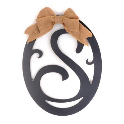 Wooden Monogram S Wall Plaque