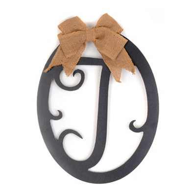 Wooden Monogram T Wall Plaque