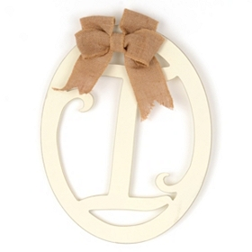 Cream Wooden Monogram I Wall Plaque