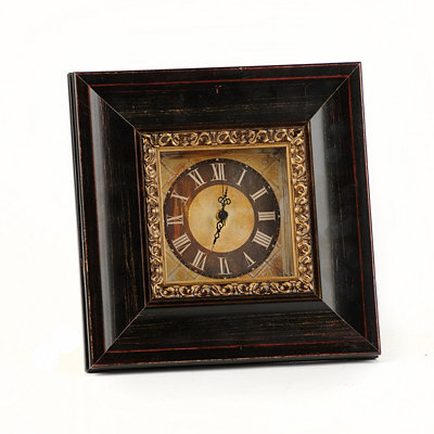 Espresso Tabletop Clock