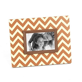 Brown and Tan Chevron Picture Frame, 4x6