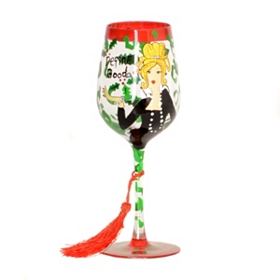 Dear Santa Wine Glass